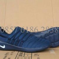 Sepatu Lari Nike Papaya Cowo Biru Dongker Replika Import