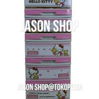Lemari plastik/mini container serbaguna napolly hello kitty susun 5