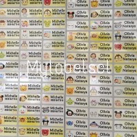 Label Nama Stiker Waterproof Sticker anti air Disney Tsum tsum S M L