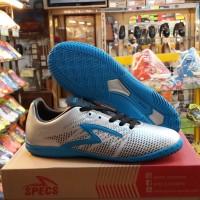 Sepatu Futsal SPECS   Apache In   Silver-Rock Blue-Black