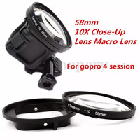 GoPro Hero 4 5 Session - 58mm 10x Close Up Macro Lens Filter Ring