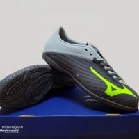 Sepatu Futsal Mizuno Basara 103 IN Wide Gray Volt Eco Green Hitam ASLI