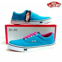 sepatu vans multipop biru muda pink