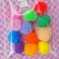 pompom fur ball bahan aksesoris bahan accesories pom pom bola bulu