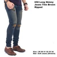 celana panjang pria skinny jeans ripped / celana jeans sobek pria