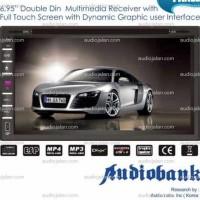 dvd mobil double din - audio bank + antena #automotif