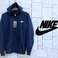 Jaket Parasut Nike Biru Dongker (Navy)