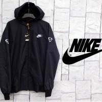 Jaket Parasut Nike Warna Full Hitam (Black)