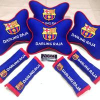 Bantal Mobil Barcelona/Real madrid/Bantal mobil/Bola/Kado/Souvenir