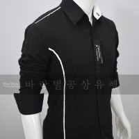 TWIZEL BLACK - Baju Kemeja Pria Slimfit Pesta Casual Korea