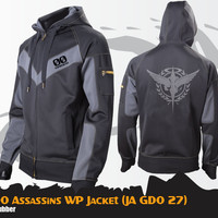 Jaket Anime Gundam 00 Water Proof Assassin Style Jaket Gundam