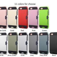iPhone 5/5s Armor Hybrid Shockproof w/ Card Slot Case TPU + PC