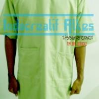 Jas / Baju OK / bedah / Pasien / Laboratorium Lengan Pendek Hijau Muda