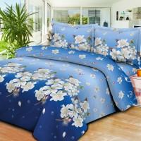 Sprei Bed Cover Murah 1 Set Lengkap warna Biru