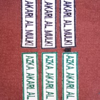 Bet/Badge Nama Siswa Bordir