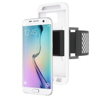 SS2604 - 2 IN 1 MULTIFUNCTION CASE & ARMBAND GALAXY S7 EDGE WHITE