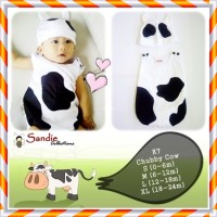 Baju Jumper Karakter Bayi Kostum SAPI Stelan Lucu Size S 3m Newborn