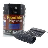 Keyboard Flexible Usb Bisa Dilipat, Elastis Dan Aman Dari Air