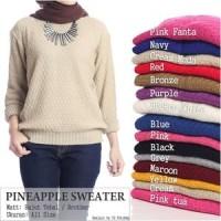 Baju Atasan Wanita Rajutan Nanas Sweater