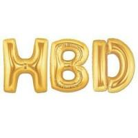 Balon Foil Huruf dan Angka Besar 80cm (Gold, Silver, Pink, Biru) Pack