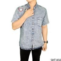 Kemeja Soft Jeans Lengan Pendek Soft Jeans Biru SHT 850