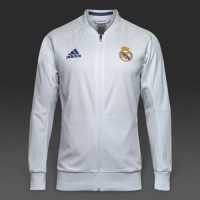 JAKET REAL MADRID ANTHEM WHITE 2016/2017 GRADE ORI