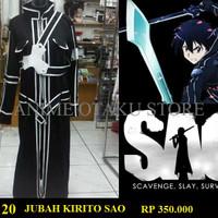 PROMO Jubah cosplay kirito midnight sword art online,jaket kirito SAO