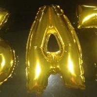Balon Foil Huruf Nama dan Angka Gold / Emas dan Perak / Silver