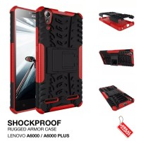 Lenovo A6000 Plus Rugged Armor Hard Soft Stand Back Cover Case Casing
