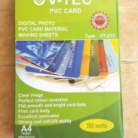 Kertas PVC V'Tec Bahan ID Card 50 set