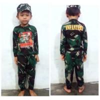 Baju Loreng Anak/ Baju Stelan Loreng Anak/ Stelan Kaos Loreng Anak