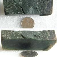 Rough / Bongkahan / Bahan Batu Natural Black Jade / Giok Hitam Aceh 07