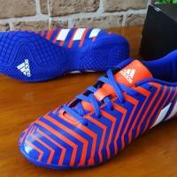 Sepatu Futsal Original Adidas Predator Instinct IN Blue/Orange