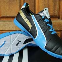 Puma King Hitam Biru Grade Ori(sepatu futsal,soccer,bola)
