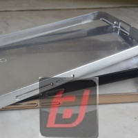 Bumper alumunium plus back transparan Xiaomi Mi4i