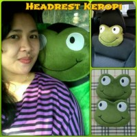 Bantal Mobil Headrest KERROPI / Keropi Hijau