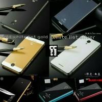 Alumunium Tempered Glass Back Case Casing Cover Xiaomi Redmi Note 2