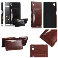 Leather Hard Back Stand Cover Casing Case Kulit Sony Xperia Z5 Premium
