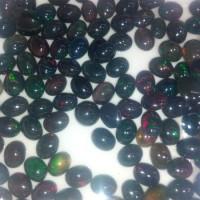 BO8265 Batu Permata Natural Black Opal FULL JARONG / Kalimaya