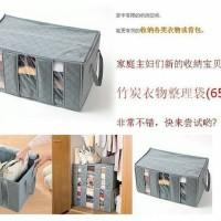 Bamboo Storage Box / Cloth Organizer / Tas Sekat Tempat Baju Pakaian