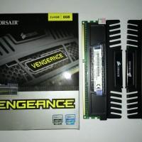 Corsair Memory Vengeance Black 8GB (2X4GB) DDR3 (CMZ8GX3M2A1600C9)