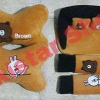 Bantal Mobil Brown & Cony 3in1