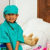 baju dokter/Dokter bedah (size xs,s,m)/baju profesi/kostum anak