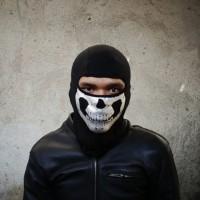BALACLAVA masker ninja tengkorak skull Black white Hitam mask