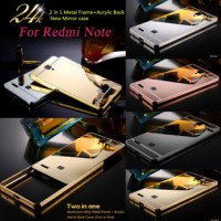 Xiaomi Redmi Note / Redmi Note 1 Mirror Metal Bumper Back Cover Casess