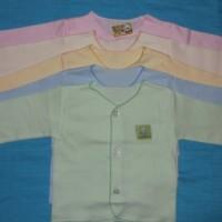 Baju bayi New born tangan Panjang Merk Hello baby  ( Polos )- 3cs