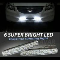 lampu siang mobil DRL 6 led, dpt 2 pcs
