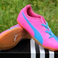 Sepatu FutsaL Anak Puma Evo Power Pink Biru Anak (sepatu Futsal 2016)