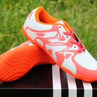 Sepatu Futsal Anak Adidas Messi X.15 Chaos Putih Orange (Sepatu 2016)