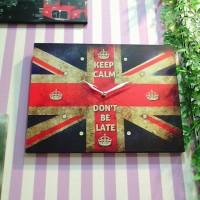 Jam Dinding UNION JACK - Bendera Inggris